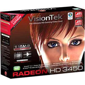 VisionTek 900302 Radeon 3450 Graphic Card - 512 MB DDR2 SDRAM