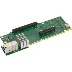 Supermicro AOC-2UR8N4-I2XT 2U Ultra Riser with 2-port 10Gbase-T & 4 NVMe Ports