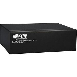 Tripp Lite B114-004-R 4-Port VGA / SVGA Video Splitter Signal Booster High Resolution Video