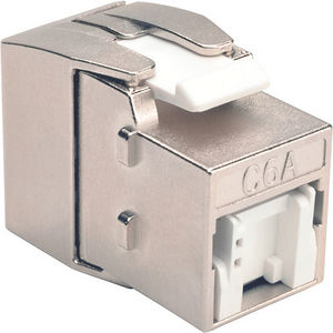 Tripp Lite BHDBT-001-KJ-GY Toolless Cat6a Keystone Wallplate Jack HDBaseT RJ45 110 Type Gray