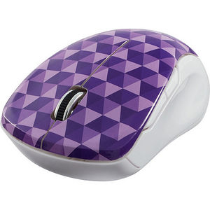 Verbatim 99746 Wireless Notebook Multi-Trac Blue LED Mouse - Diamond Pattern Purple