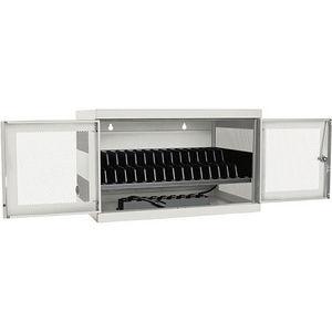 Tripp Lite CSC16ACW 16-Port AC Charging Cart Storage Station Chromebook Laptop White