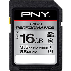 PNY P-SDHC16GU185-GE High Performance 16 GB SDHC