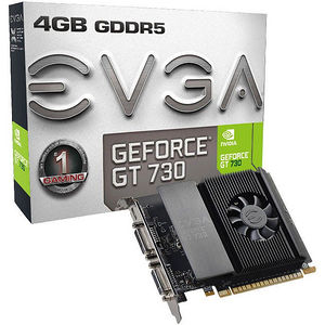 EVGA 04G-P3-3739-KR GeForce GT 730 Graphic Card - 902 MHz Core - 4 GB GDDR5 - Single Slot