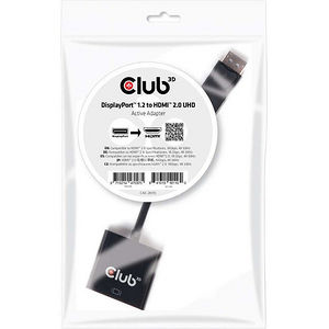 Club 3D CAC-2070 DisplayPort 1.2 to HDMI 2.0 UHD Active Adapter