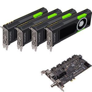 PNY VCQP5000SYNC-4P5KIT Quad Quadro P5000 Graphic Card - 64 GB GDDR5 + Quadro Sync II (Turnkey Kit)