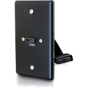 C2G 39878 Single Gang Wall Plate with HDMI Pigtail Black