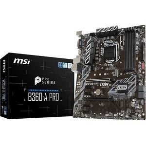 MSI B360APRO B360-A PRO Desktop Motherboard - Intel Chipset - Socket H4 LGA-1151