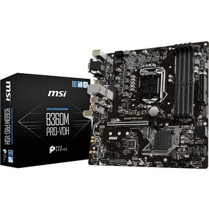 MSI B360MPROVDH B360M PRO-VDH Desktop Motherboard - Intel Chipset - Socket H4 LGA-1151