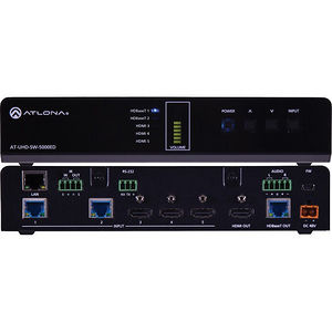 Atlona AT-UHD-SW-5000ED 4K/UHD 5 Input HDMI/HDBaseT w/Mirrored HDMI/HDBaseT Outputs