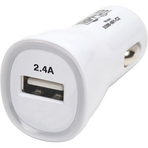 Tripp Lite U280-001-C2 USB Tablet Phone Car Charger High Power Adapter 5V / 2.4A 12W