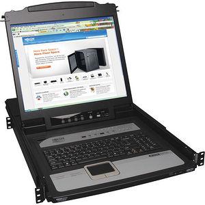 """Tripp Lite B020-U08-19-IP 8-Port Rack Console KVM Switch built in IP w/ 19"""" LCD 1U"""