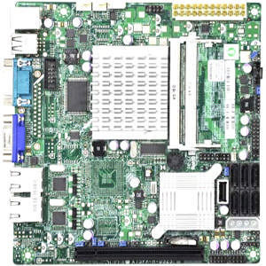 Supermicro MBD-X7SPA-H-D525-O Desktop Motherboard - Intel ICH9R Chipset - Intel Atom D525 Dual-core