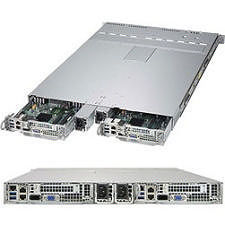 Supermicro SYS-1028TP-DTTR 1U 2 Node Rackmount Barebone - Intel C612 Chipset - LGA 2011-v3 - 2x CPU
