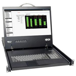 "Tripp Lite B070-008-19 8-Port Rack Console Cat5 KVM Switch 1U RM 19"" LCD Rackmount"
