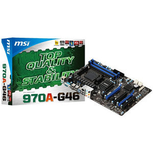 MSI 970A-G46 Desktop Motherboard - AMD Chipset - Socket AM3+