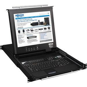 """Tripp Lite B020-016-17-IP 16-Port Rack Console KVM Switch built in IP w/ 17"""" LCD 1U TAA GSA"""