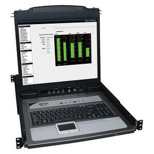 """Tripp Lite B020-U08-19KTAA 8-Port Rack Console KVM Switch w/19"""" LCD PS2/USB Cables 1U TAA GSA"""