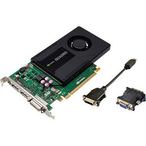 PNY VCQK2000-PB Quadro K2000 Graphic Card - 2 GB GDDR5 - PCI-E 2.0 x16 - Full-height - Single Slot