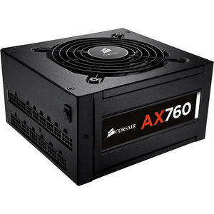 Corsair CP-9020045-NA AX760 ATX Power Supply - 760W 80 PLUS Platinum Certified Fully-Modular PSU