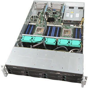 Intel R2308GZ4GS9 2U Rackmount Server Barebone - Socket R LGA-2011 - 2 x Processor Support
