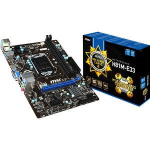 MSI H81M-E33 Desktop Motherboard - Intel Chipset - Socket H3 LGA-1150