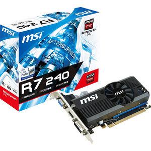 MSI R7 240 2GD3 LP Radeon R7 240 Graphic Card - 730 MHz Core - 2 GB DDR3 SDRAM - PCI-E 3.0 x16 - LP