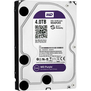 "WD WD40PURX Purple 4TB Surveillance 3.5"" Internal Hard Drive"