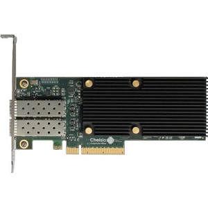 Chelsio T520-CR 2-port Low Pro 1/10GbE UWire Adapter w/ PCI-E x8 Gen 3, 32K conn. SFP+ connector