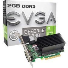 EVGA 02G-P3-1733-KR GeForce GT 730 Graphic Card - 902 MHz Core - 2 GB DDR3 SDRAM - PCI Express 2.0