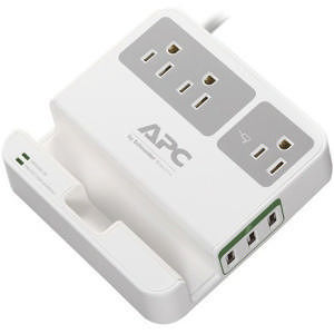 APC P3U3 Essential SurgeArrest, 3 Outlets, 3 USB Charging Ports, 120V