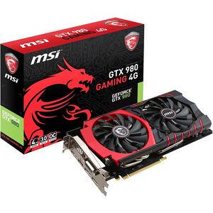 MSI GTX 980 GAMING 4G GeForce GTX 980 Graphic Card - 1.22 GHz Core - 4 GB GDDR5 - PCI-E 3.0 x16