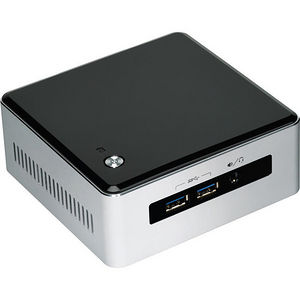 Intel BLKNUC5I5MYHE Desktop Computer - Core i5 i5-5300U 2.30 GHz DDR3L SDRAM - Silver, Black