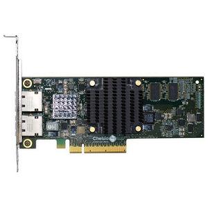 Chelsio T520-BT 2-port Low Pro 1/10GbE Base-T UWire Adapter W/ PCI-E x8 Gen 3, 32K conn. RJ45 conn.