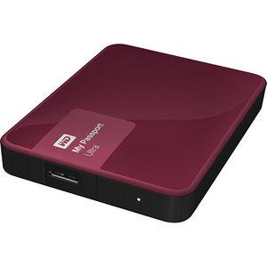 WD WDBBKD0020BBY-NESN My Passport Ultra 2TB USB 3.0 Secure portable drive w/ auto backup Wild Berry