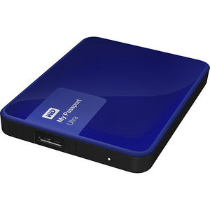 WD WDBBKD0030BBL-NESN My Passport Ultra 3TB USB 3.0 Secure portable drive - Nobile Blue