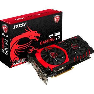 MSI R9 380 GAMING 2G Radeon R9 380 Graphic Card - 1 GHz Core - 2 GB GDDR5 - PCI Express 3.0 x16