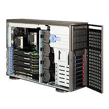 Supermicro SYS-7046GT-TRF-FC407 4U Tower Barebone - Intel 5520 Chipset - Socket B LGA-1366 - 2x CPU
