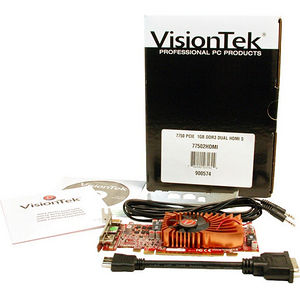 VisionTek 900574 Radeon HD 7750 Graphic Card - 1 GB DDR3 SDRAM - PCI-E 3.0 x16 - Low-profile