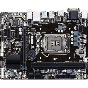 GIGABYTE GA-H110M-S2H GSM Ultra Durable Desktop Motherboard - H110 Chipset - Socket H4 LGA-1151
