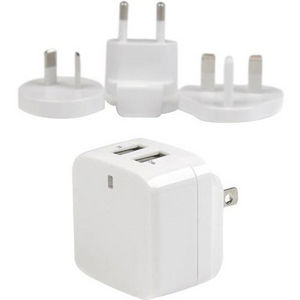 StarTech USB2PACWH Travel USB Wall Charger - 2 Port - White - Universal Travel Adapter