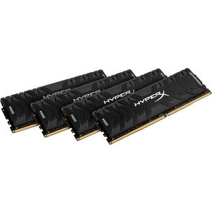 Kingston HX430C15PB3K4/16 Predator Memory Black - 16GB Kit (4x4GB) DDR4 3000MHz Intel XMP CL15 DIMM