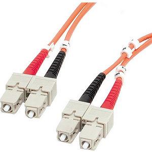 StarTech FIBSCSC1 1m Fiber Optic Cable - Multimode Duplex 62.5/125 - LSZH - SC/SC - OM1
