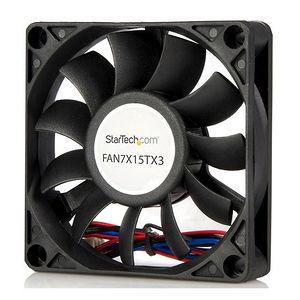 StarTech FAN7X15TX3 Replacement 70mm Ball Bearing CPU Case Fan - TX3 Connector - 70 mm - black