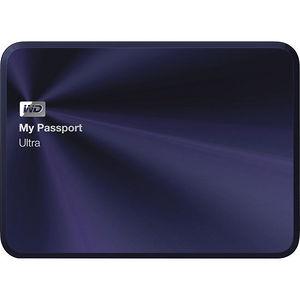WD WDBEZW0030BBA-NESN My Passport Ultra Metal Edition 3TB USB 3.0 portable hard drive Blue-Black
