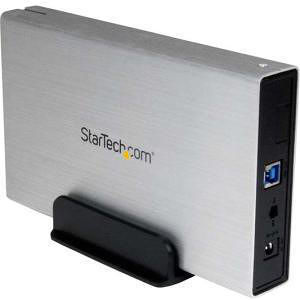 StarTech S3510SMU33 3.5in Silver USB 3.0 External SATA III Hard Drive Portable Enclosure with UASP