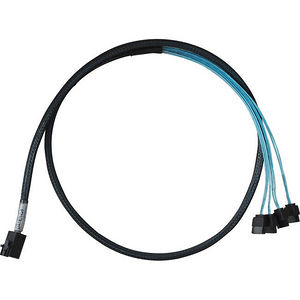 HighPoint 8643-4SATA-1M 1 Meter Cable Length, SFF-8643 to Controller & 4x SATA to 4x SATA Drives