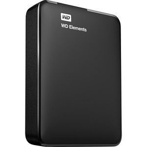 WD WDBU6Y0030BBK-WESN 3TB Elements USB 3.0 high-capacity portable hard drive for Windows