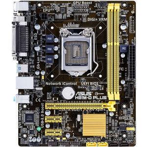 ASUS H81M-D PLUS Desktop Motherboard - Intel Chipset - Socket H3 LGA-1150