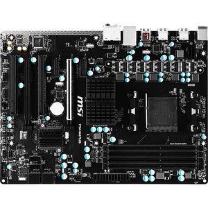 MSI 970A-G43 PLUS Desktop Motherboard - AMD Chipset - Socket AM3 PGA-941